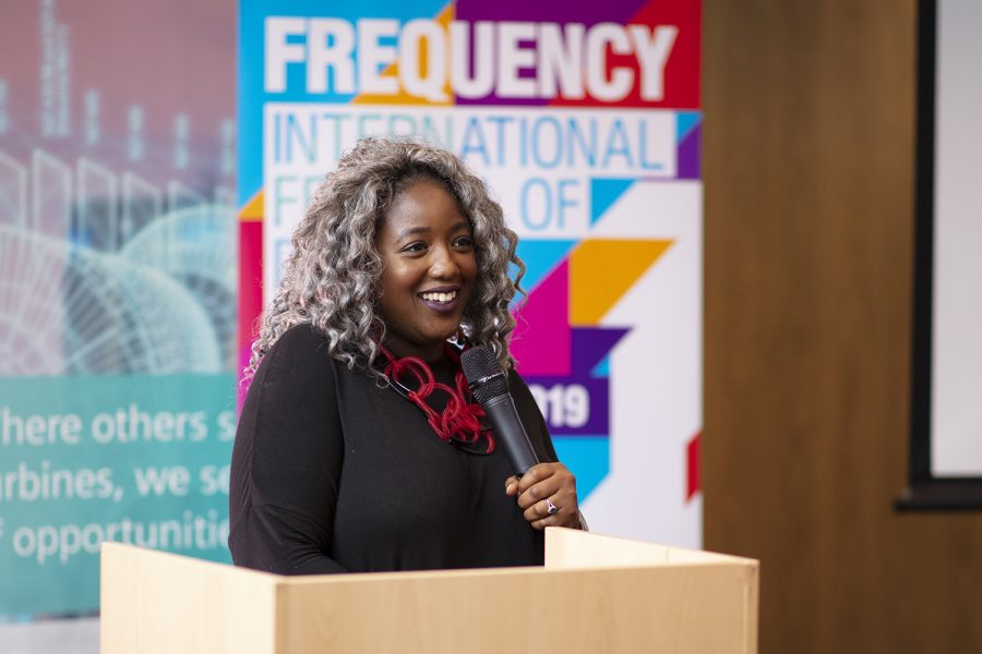 Dr Anne-Marie Imafidon at The Meet Up 2019. Photo credit: Electric Egg
