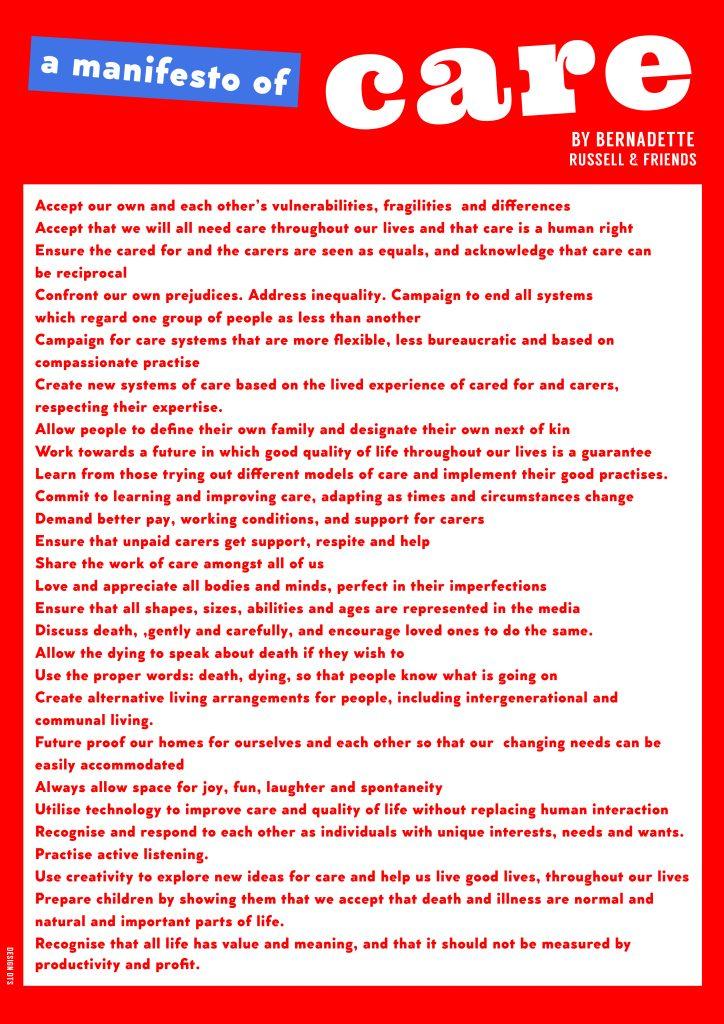 Manifesto of care