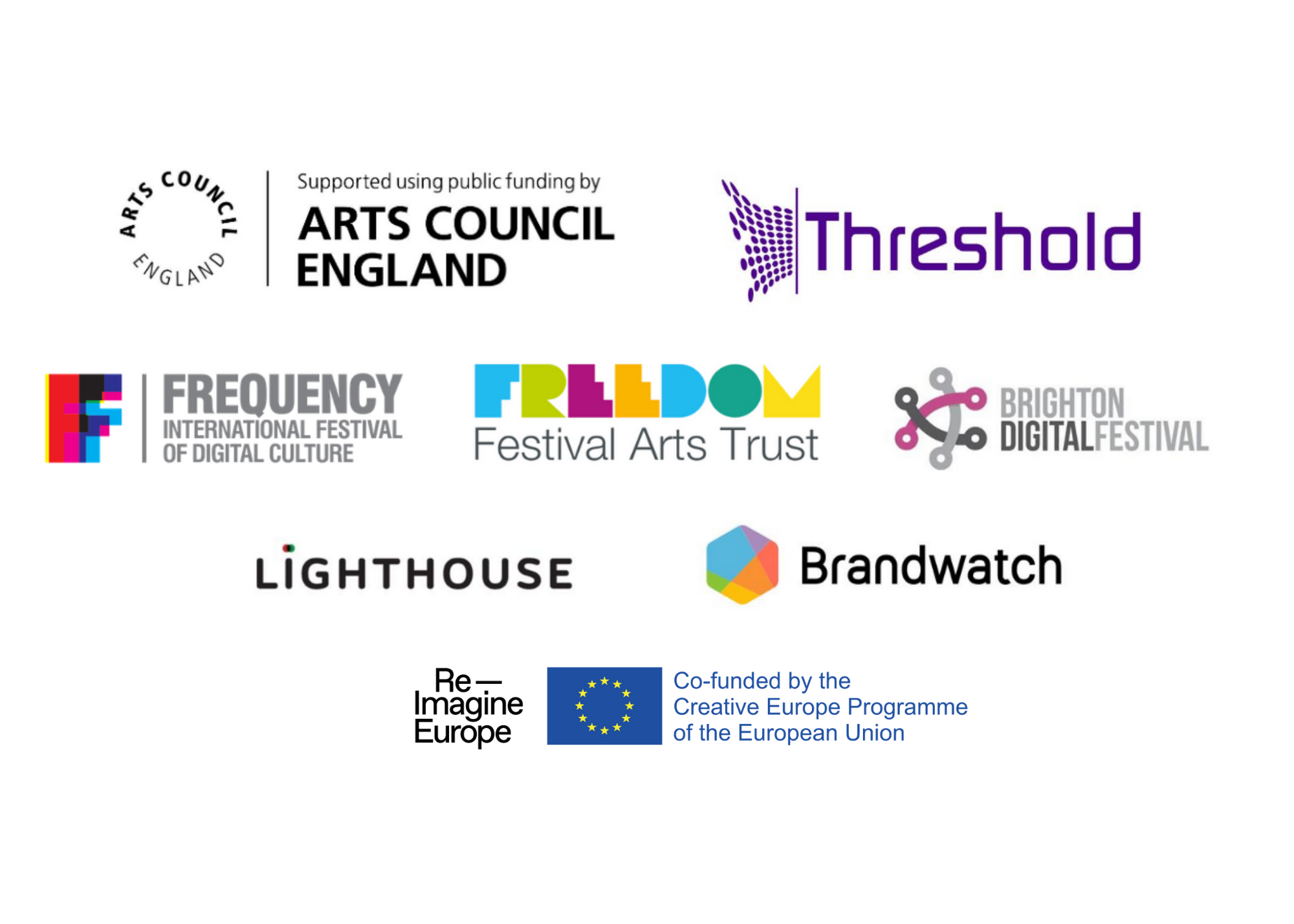 Block of logos for various funders and partners