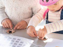 children making a circuit badge